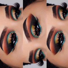 Make Up������& S L Á Y������Repeat������ Beauti Feature Eye Glam Beautí Shot • • ������Please Follow @nveimibeauti for more makeup, skincare,DIY, & Hair ������������������������������… #EyeMakeupGold #EyeMakeupBlue Love Makeup, Makeup Inspo, Makeup Inspiration, Makeup Tips, Makeup Looks, Makeup Ideas, Dress Makeup, Makeup Products, Beauty Products
