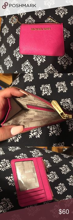 pink michael Kors wallet Perfect condition pink michael Kors wallet Michael Kors Bags Wallets