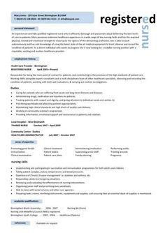Er Nurse Resume Example Resume Examples Pinterest Nursing