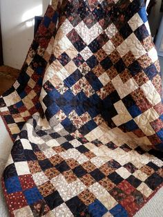 Quilted Wall Hanging or Lap Quilt Blanket ready to by Pamelaquilts