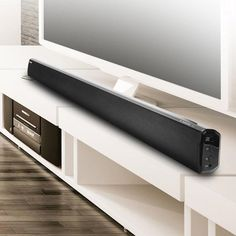 In addition, the sound bar includes full-range top quality speakers