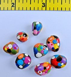 Polka-Dot Painted Pebbles by PaintandPebbles on Etsy