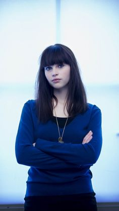 Beautiful, blue tshirt, Felicity Jones, actress, 720x1280 wallpaper