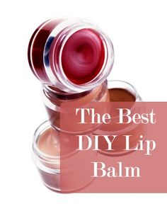The Best DIY Lip Balm - 4 tbsp Coconut Oil, 4 tbsp Petroleum Jelly, 1 tbsp Beeswax, Kool-aid (for color), refillable cosmetic jars
