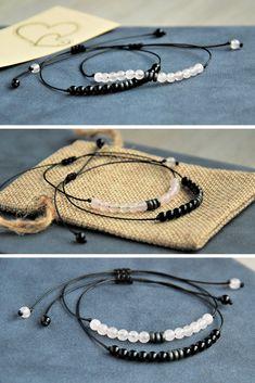 Couples Bracelets, Love Gift, Set of 2 Boyfriend and Girlfriend Bracelets, Distance Relationship Diy Bracelets Easy, Bracelet Crafts, Bracelets For Men, Handmade Bracelets, Jewelry Crafts, Matching Couple Bracelets, Handmade Gifts For Boyfriend, Beaded Jewelry, Beaded Bracelets
