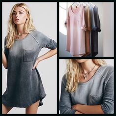Free people charcoal tunic Free people Charcoal tunic. New with tags. Price is firm! Free People Dresses