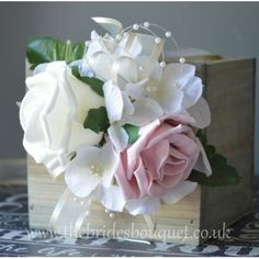 Wrist Corsage - Rose & Hydrangea - Choose Rose Shades