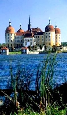 Moritzburg Castle in Dresden, Saxony, Germany (Foto-Kunstdruck)