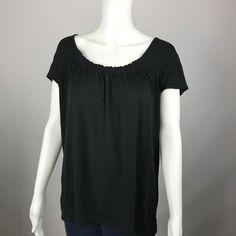 GILLIGAN & O'MALLEY Top Sleep Shirt Slub Knit Cap Sleeve Scoop Neck Size XXL #GilliganOMalley #Sleepshirt #Casual