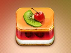 Jelly Cake App Icon by Erfan Nuriyev. 18 Mouthwatering Food #App #Icons