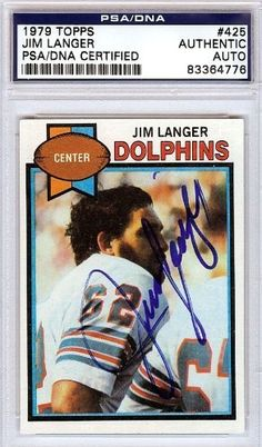 Jim Langer Autographed/Hand Signed 1979 Topps Card PSA/DNA #83364776 by Hall of Fame Memorabilia. $46.95. This is a 1979 Topps Card that has been hand signed by Jim Langer. It has been authenticated by PSA/DNA and comes encapsulated in their tamper-proof holder.