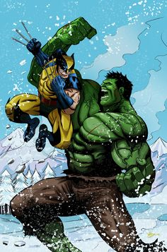 Wolverine vs Hulk by Richard Garcia