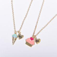 Bff Bracelets, Best Friend Bracelets, Bff Necklaces, Cute Necklace, Little Girl Jewelry, Girls Jewelry, Cute Jewelry, Friend Jewelry, Sister Jewelry