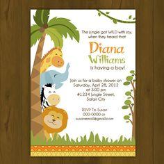safari baby shower invitations | Splashbox Printables | Safari Baby Shower Invitation | Online Store ...