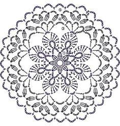 Trendy ideas for crochet blanket flower ganchillo Crochet Doily Patterns, Crochet Diagram, Crochet Chart, Crochet Designs, Crochet Doilies, Crochet Flowers, Crochet Stitches, Crochet Home, Crochet Granny