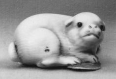 Netsuke of Dog  Date: 19th century Culture: Japan Medium: Ivory