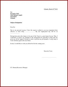 How can someone write resignation letter