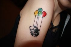 Panda with Balloons Tattoo