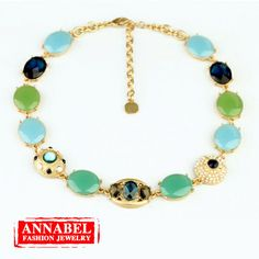 2013 New Arrivals Elegant Candy Colorful Gems/Crystal Choker Necklace for Women,Blue Chunky Statement Necklaces Free shipping 316,95 руб.