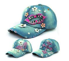 Baseball Denim Hats With Bling Nice Caps, Denim Cap, Best Caps, Painted Jeans, Caps For Women, Baseball Caps, Women Accessories, Fiber, Planters