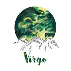 Virgo Zodiac Watercolor Print by PickledCherryblossom on Etsy