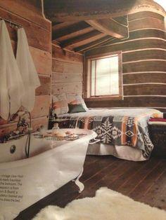 My dream cabin bedroom