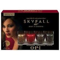 OPI Nail Polish Lacquer - Skyfall James Bond - The Bondettes Mini Nail Lacquers - GoldenEye, The Spy Who Loved Me, The World Is Not Enough & Live And Let Die (All 3.75ml)
