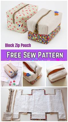 DIY Block Zip Pouch Sewing Pattern Tutorial with Template DIY Bl . - DIY Block Zip Pouch Sewing Pattern Tutorial with template DIY Block Zip Pouch sewing pattern tutorial with template, # Image titled Knit Step 23 - Diy Sewing Projects, Sewing Projects For Beginners, Sewing Hacks, Sewing Tutorials, Sewing Crafts, Sewing Tips, Diy Bags Sewing, Sewing Basics, Makeup Bag Tutorials