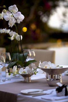 Table set-up at lounge deck Tirtha Bridal Uluwatu Bali