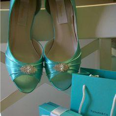 Tiffany Blue Wedding Shoes - MyWedStyle.com