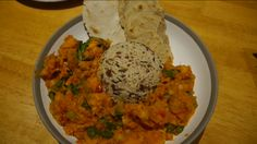 Sweet potato and chickpea curry with wild rice