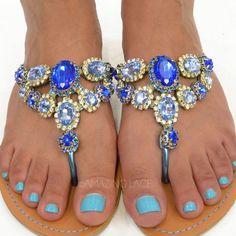 blue sandals www.madamebridal.com