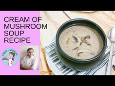 Simple, earthy, hearty, flavorful and fulfilling this homemade cream of mushroom soup is so easy to make with just a few simple ingredients u have at home Creamed Mushrooms, Stuffed Mushrooms, Mushroom Soup Recipes, Earthy, Oatmeal, Homemade, Simple, Breakfast, Food