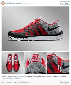 Nike Unveils Ohio State Shoes