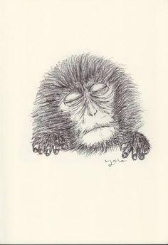 BALLPEN MONKEY 3 Monkey 3, Ballpen, 3 Arts, Fine Art Paper, Illustrator, Saatchi Art, Art Prints, Canvas, Drawings