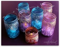 painted jars by Regina Lord (creative kismet)