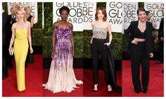 La pasada noche tuvo lugar la 72º edición de los Globos de Oro, una ceremonia donde la moda también estuvo muy presente.