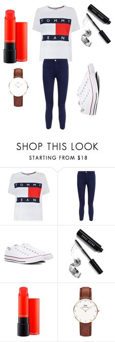 """""""cool outfit"""" by inessophiefromaustria ❤ liked on Polyvore featuring Tommy Hilfiger, L'Agence, Converse, Bobbi Brown Cosmetics, MAC Cosmetics and Daniel Wellington"""