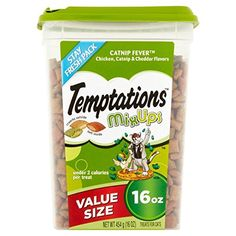 TEMPTATIONS MixUps Cat Treats Chicken Catnip Cheddar 16 oz  Pack of 6 *** Read more reviews of the product by visiting the link on the image.