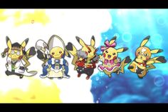 A new CoroCoro scan shows that in the new Pokémon games coming out, Omega Ruby and Alpha Sapphire, you can dress up Pikachu in Pokémon Amie! ((I think this is probably because they may be bringing back the Pokémon contests, but we'll see!)) Which one do you think is the best look?