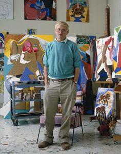 574a8596334 David Hockney in his studio 1988 David Hockney