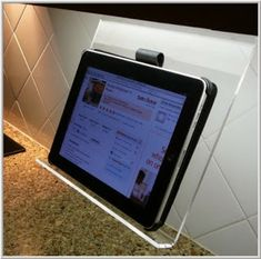 Under Cabinet iPad Holder ~ 40 GENIUS Kitchen Gadgets
