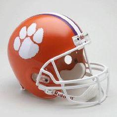 Clemson University Tigers Full Size Riddell Replica Autograph Helmet
