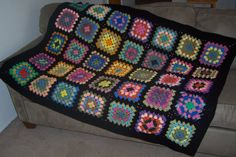 Peaceful Pastels III Granny Square Afghan by greenturning on Etsy
