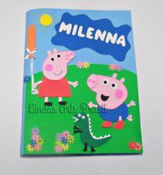 caderno decorado Peppa e George - Pesquisa Google