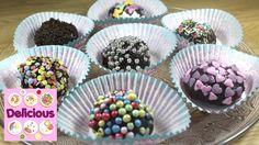 Homemade Chocolate Truffle Candy Sweets Recipe - How to make Chocolate Truffle Candy Recipe - Homemade Brazilian Brigadeiros Recipe Full recipe & ingredients. Sweets Recipes, Candy Recipes, Desserts, How To Make Chocolate, Chocolate Truffles, Homemade, Breakfast, Cake, Food