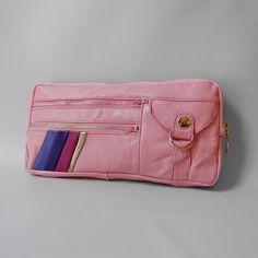 Valhalla Brooklyn - 6 pocket Vigga clutch in pink. $89.00, via Etsy.