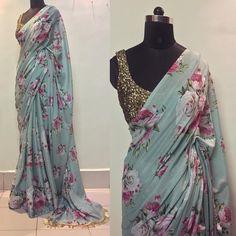 Trendy Sarees, Stylish Sarees, Fancy Sarees, Party Wear Sarees, Saree Floral, Lace Saree, Indian Wedding Outfits, Indian Outfits, Decor Inspiration