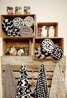 porte serviette de salle de bain, casiers muraux et crochets