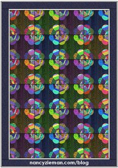 May Block of the Month   2016 Adventure Quilt   Nancy Zieman   Sewing With Nancy   Carefree Curves Template